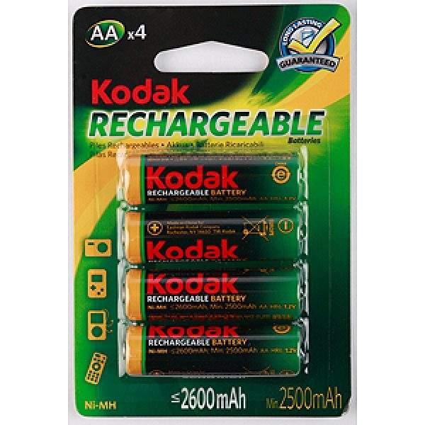 Аккумуляторы Kodak HR6-4BL 2600mAh [KAAHRP-4] (80/640/15360)