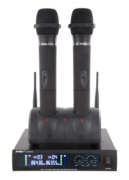 Madboy® U-TUBE 20R база с двумя беспроводными перезаряжаемыми микрофонами