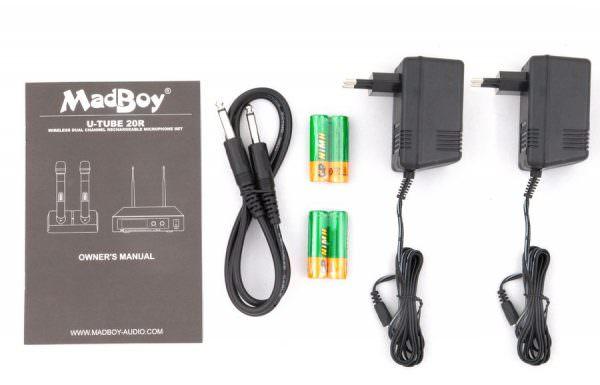 Madboy® U-TUBE 20R база с двумя беспроводными перезаряжаемыми микрофонами (выставочный образец)