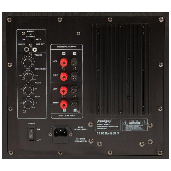 Madboy BOSS-12 активный сабвуфер для помещения 60-80м2, 200W