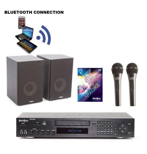 Madboy Домашний c Bluetooth-1 комплект караоке для помещения 20м2 + 5 масок знаменитостей