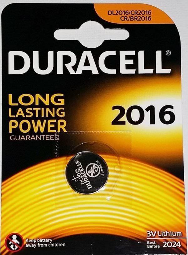 Батарея Duracell CR2016