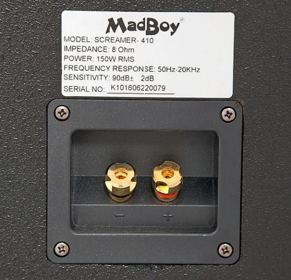 Madboy SCREAMER-410B пассивная акустическая система 150W, комплект 2 шт для помещения 80-100м2 (выставочный образец)