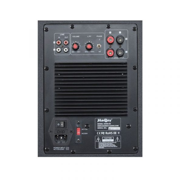 Madboy BOSS-08 активный сабвуфер для помещения 20м2, 50W