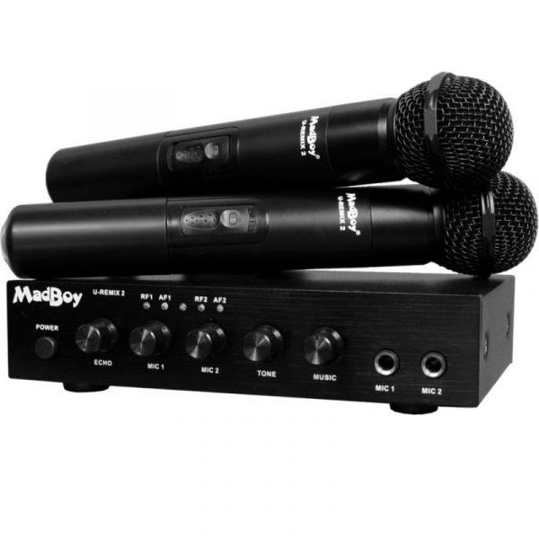 Madboy U-REMIX 2 микшер с двумя беспроводными микрофонами