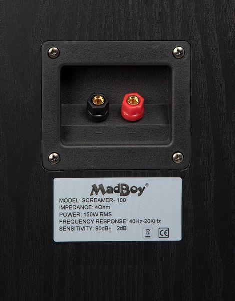 Madboy® SCREAMER-100 пассивная акустическая система 150W — 200W, комплект 2 шт для помещения 40м2