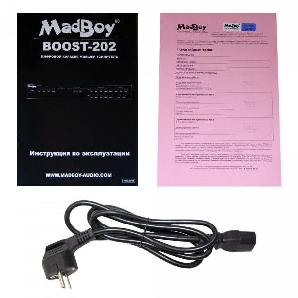 Madboy® BOOST-202 усилитель микшерный для караоке