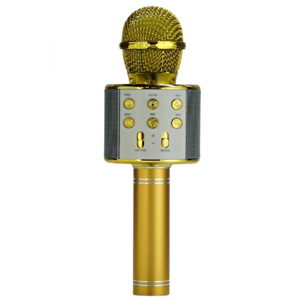 Беспроводной микрофон WS-858 (цвет золотой) с функцией караоке
