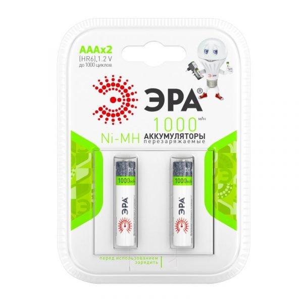 Аккумуляторы ЭРА HR03-2BL 1000MAH