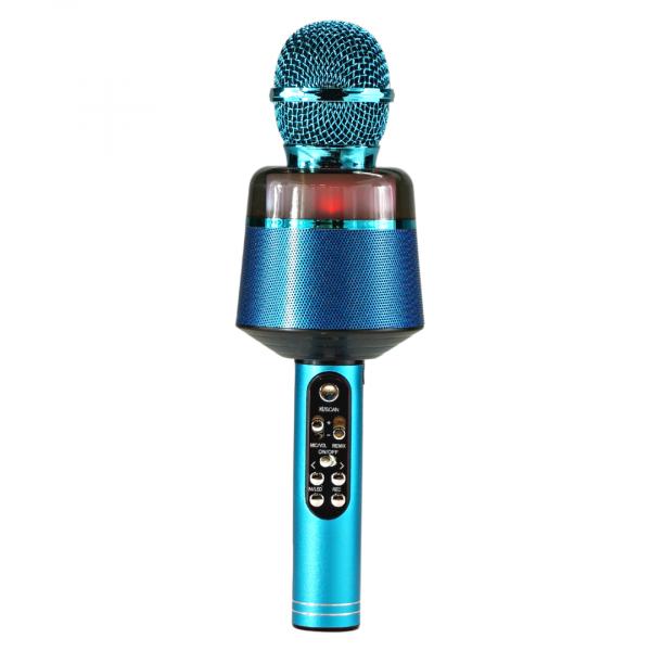 Беспроводной микрофон Q-008 (цвет синий) с функцией караоке