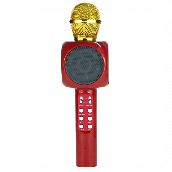 Беспроводной микрофон WS-1816 (цвет красный) с функцией караоке